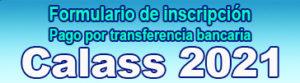 Paga por transferencia bancaria tu inscripción en CALASS