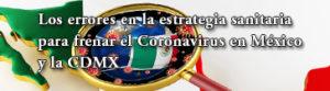 Patricia Chico Aldama: Los errores en la estrategia sanitaria para frenar el Coronavirus en México y la CDMX